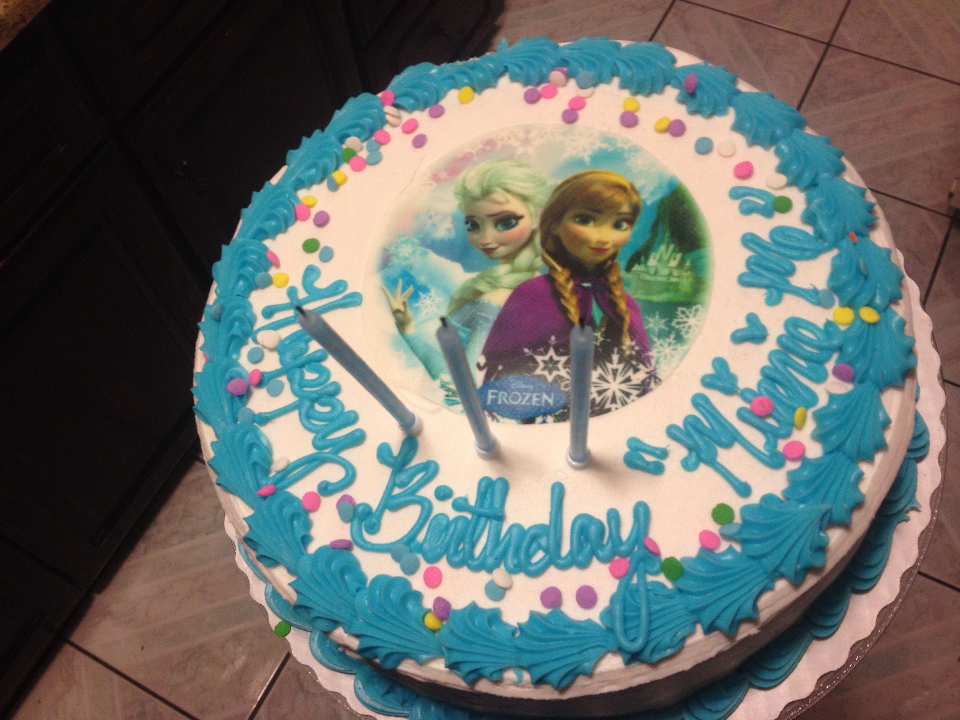 Frozen birthday cake from Sams club Party Ideas Pinterest