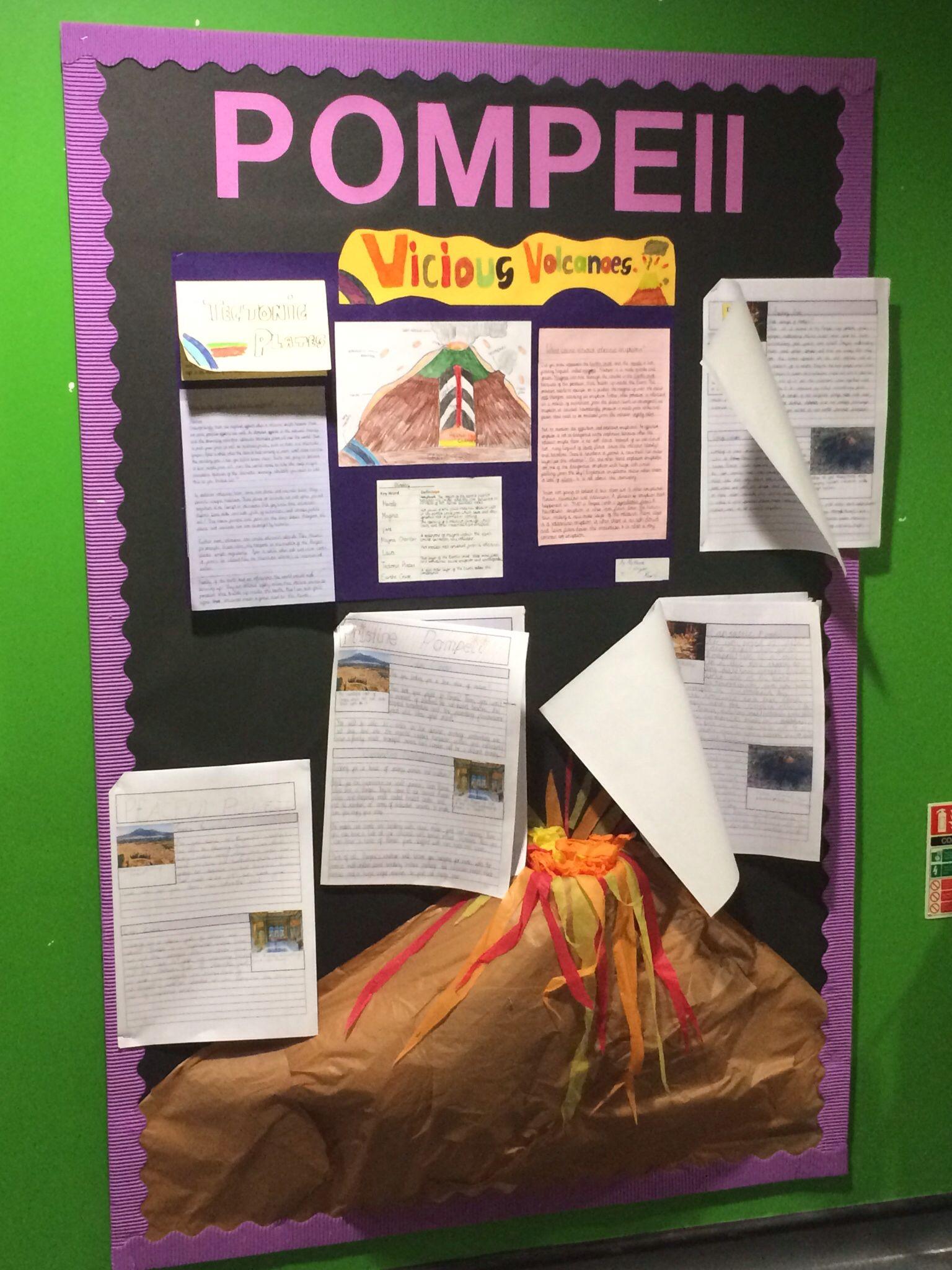 Ks2 Year 6 Volcanoes Pompeii Pompeii Natural Disasters