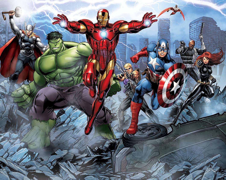 Walltastic 5060107041134 Papel Pintado Amazon Es Bricolaje Y Herramientas Cartoon Wallpaper Hd Avengers Cartoon Avengers Assemble Cartoon