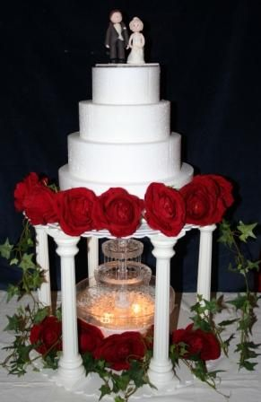 Water Fountain For Wedding CakeJPG