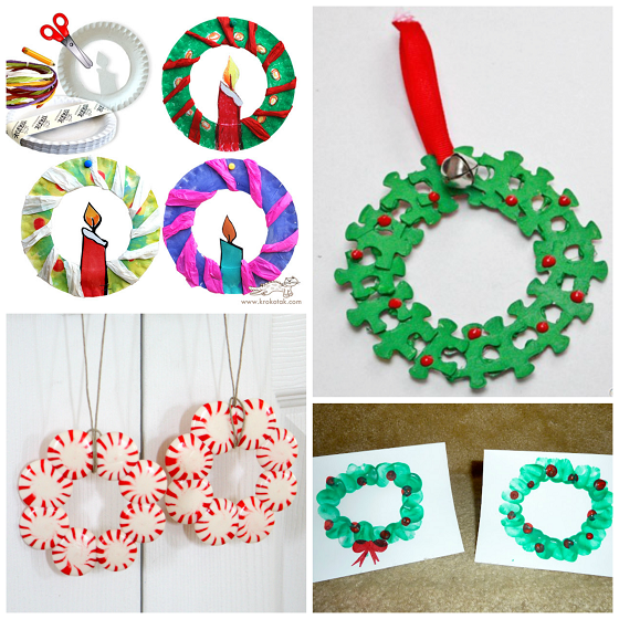Christmas Wreath Craft Ideas For Kids Crafty Morning Crafts