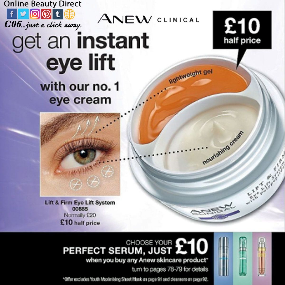 Anew Clinical Lift & Firm Eye Lift System Maquillaje