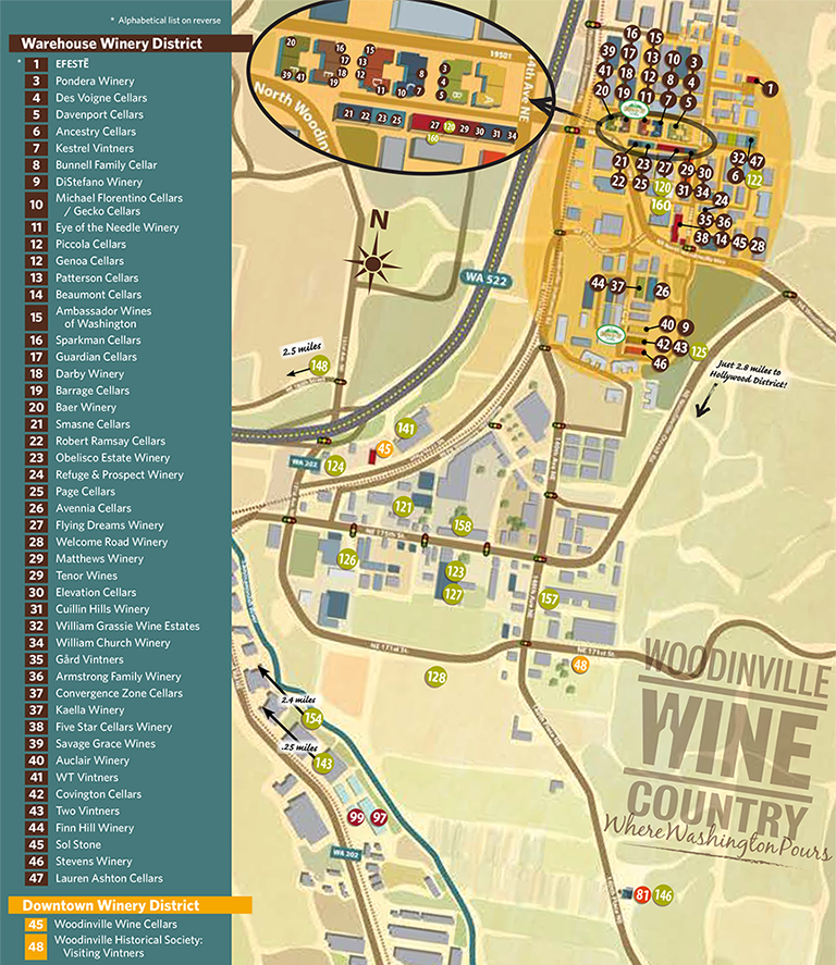 and print the woodinville wine country map of wineries