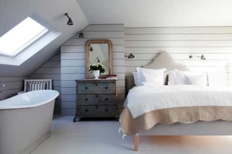 Inspired loft conversion with bath in bedroom image from Shoot