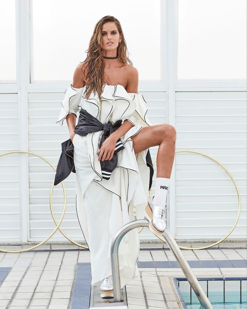 Izabel Goulart Channels Her Inner Sports Star in Glamour Brazil