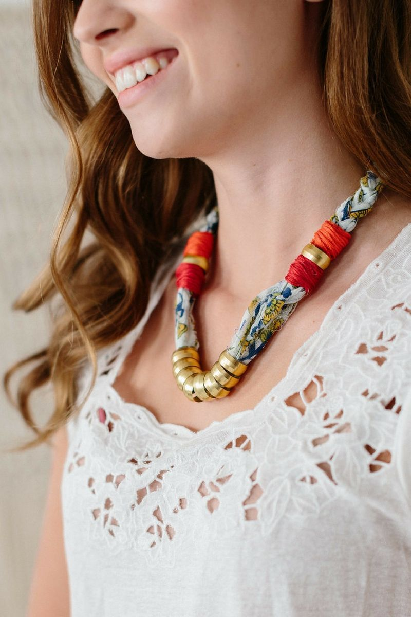 The Good Vibrations Necklace by Knit Collage ~ knit jewelry pattern ...