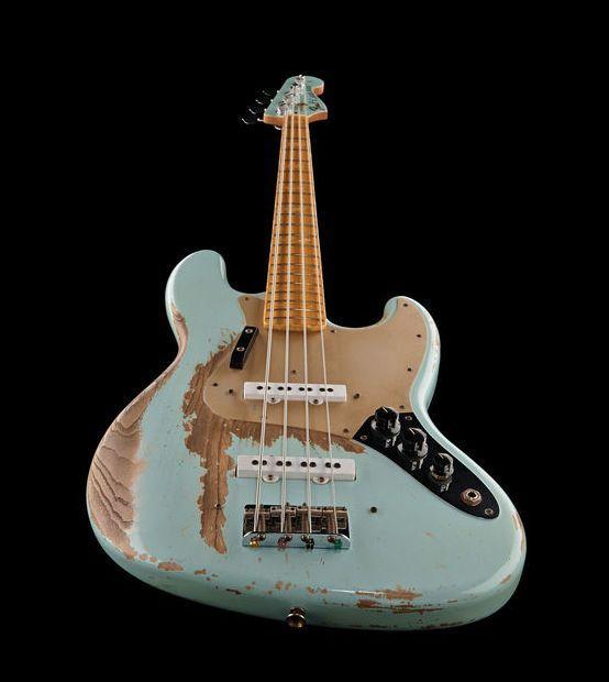Fender 1970 Jazz Bass Heavy Relic Sb Bass Guitar Heavy Relic Masterbuild By Dale Wilson Colour Son Fender Jazz Bass Vintage Bass Guitars Fender Bass Guitar