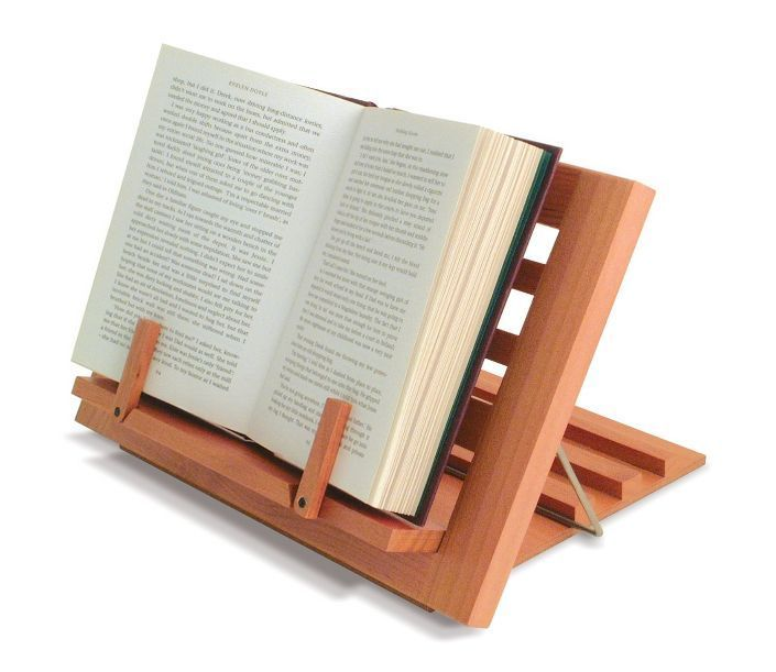 Wooden Reading Rest Adjustable Book Holder Display Stand Wood Cook Kitchen Music In Home Furniture Diy Cookware D Wooden Book Stand Book Rest Wooden Books