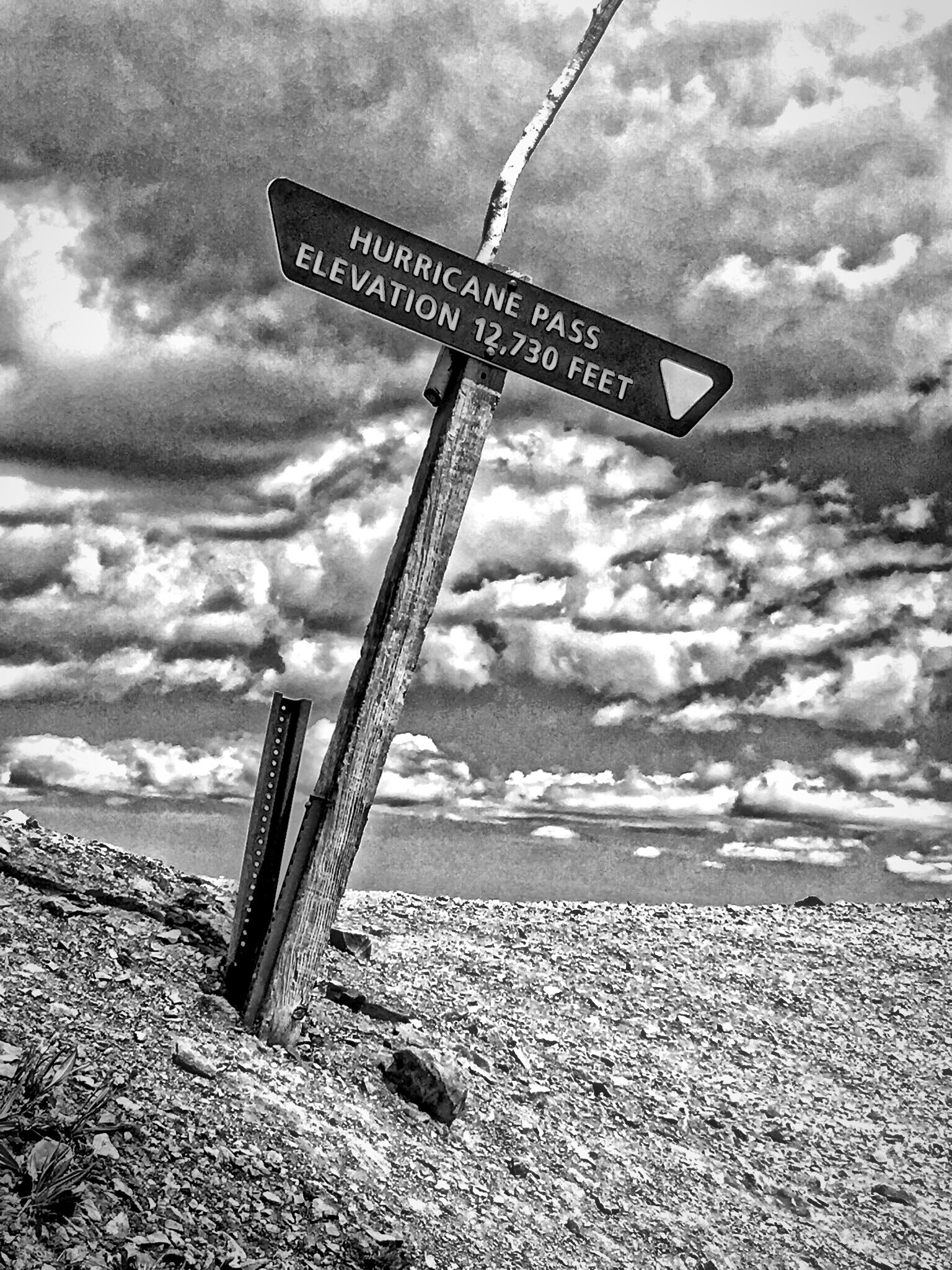 Hurricane Pass Marker Sign On The Alpine Loop Trail Near Ouray Co Travel Photography Alpine Loop Ouray