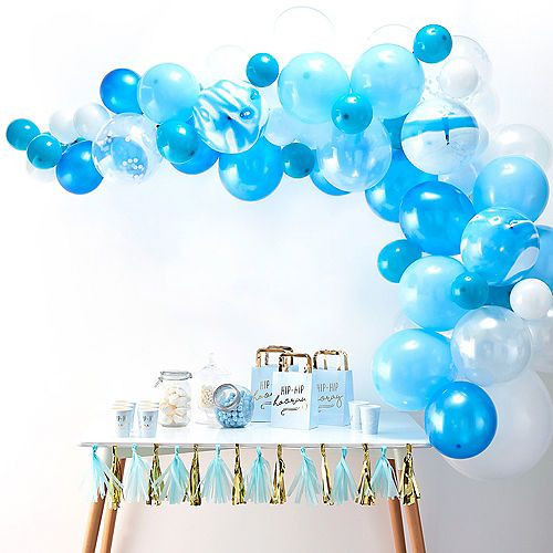 Ginger Ray Blue Balloon Arch Kit 72pc Party City Balloon Garland Blue Balloons Marble Balloons