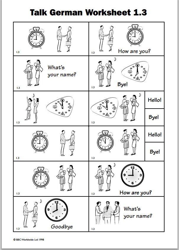 German Worksheet Worksheets For Kids German Language