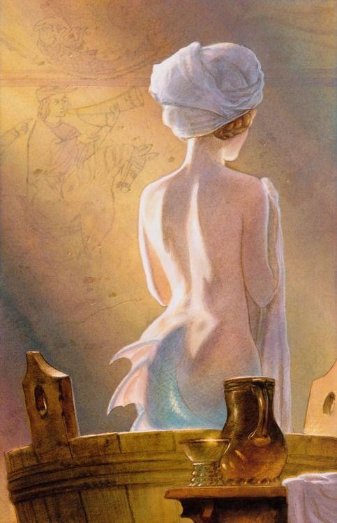 Melusine, a fairy ancestor of Elizabeth Woodville. Image by John Howe