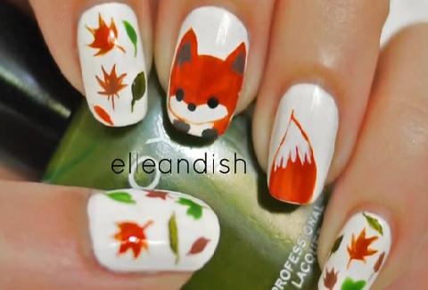 nail art fox nails | Nails | Fox nails, Nail Art und Nail tutorials