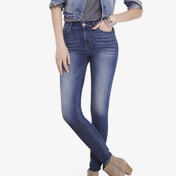 Express high waist jeans Super comfortable. High waist. NWOT bought the wrong size but lost my receipt to return. No flaws. Super sexy. I purchased another pair recently. Express Jeans Skinny