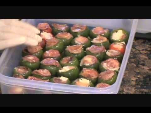 Stuffed Cherry Peppers Prosciutto And Provolone Cheese Stuffed Peppers Hot Pepper Recipes Stuffed Sweet Peppers