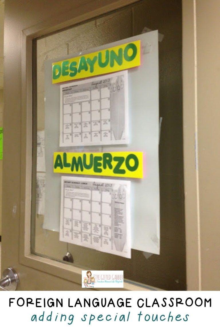 Yo vi espanol bulletin board spanish classroom the