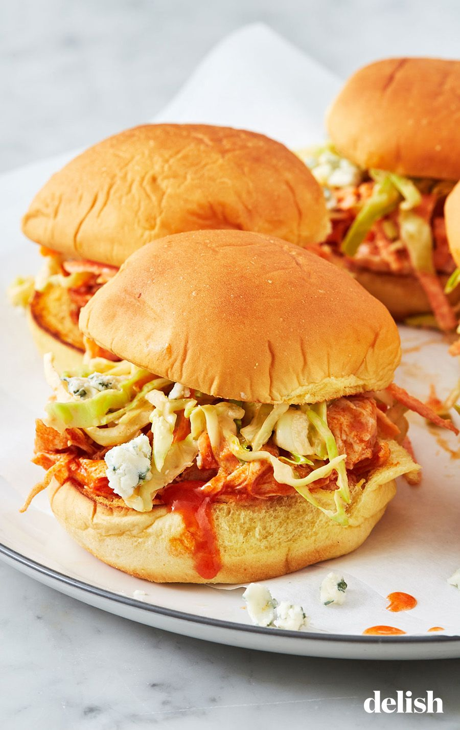 Instant Pot Buffalo Chicken Sliders images