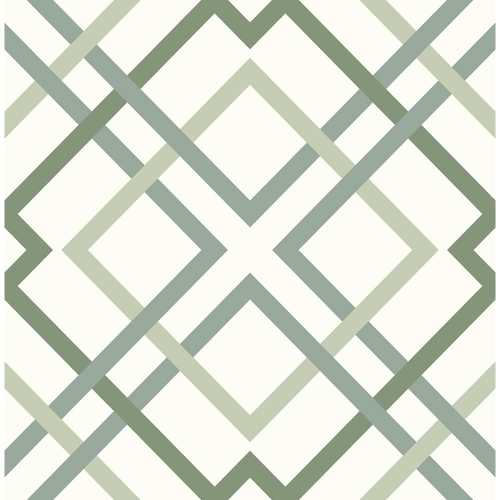 A Street Prints Saltire Emile Green Lattice Strippable Roll Covers 56 4 Sq Ft 2901 25437 The Home Depot Green Wallpaper Dark Green Wallpaper Geometric Wallpaper