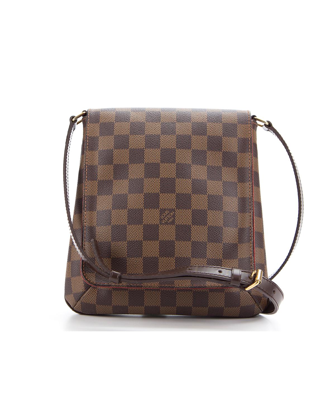 LOUIS VUITTON Pre-Owned Louis Vuitton Damier Ebene Musette Salsa Long Strap  Bag .  louisvuitton  bags  shoulder bags  hand bags  canvas  leather   lining   163e64746f