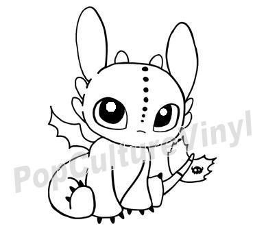 Chibi Toothless Vinyl Decal This Is Sooooo Cute Dragon Coloring Page Cute Toothless Toothless Drawing
