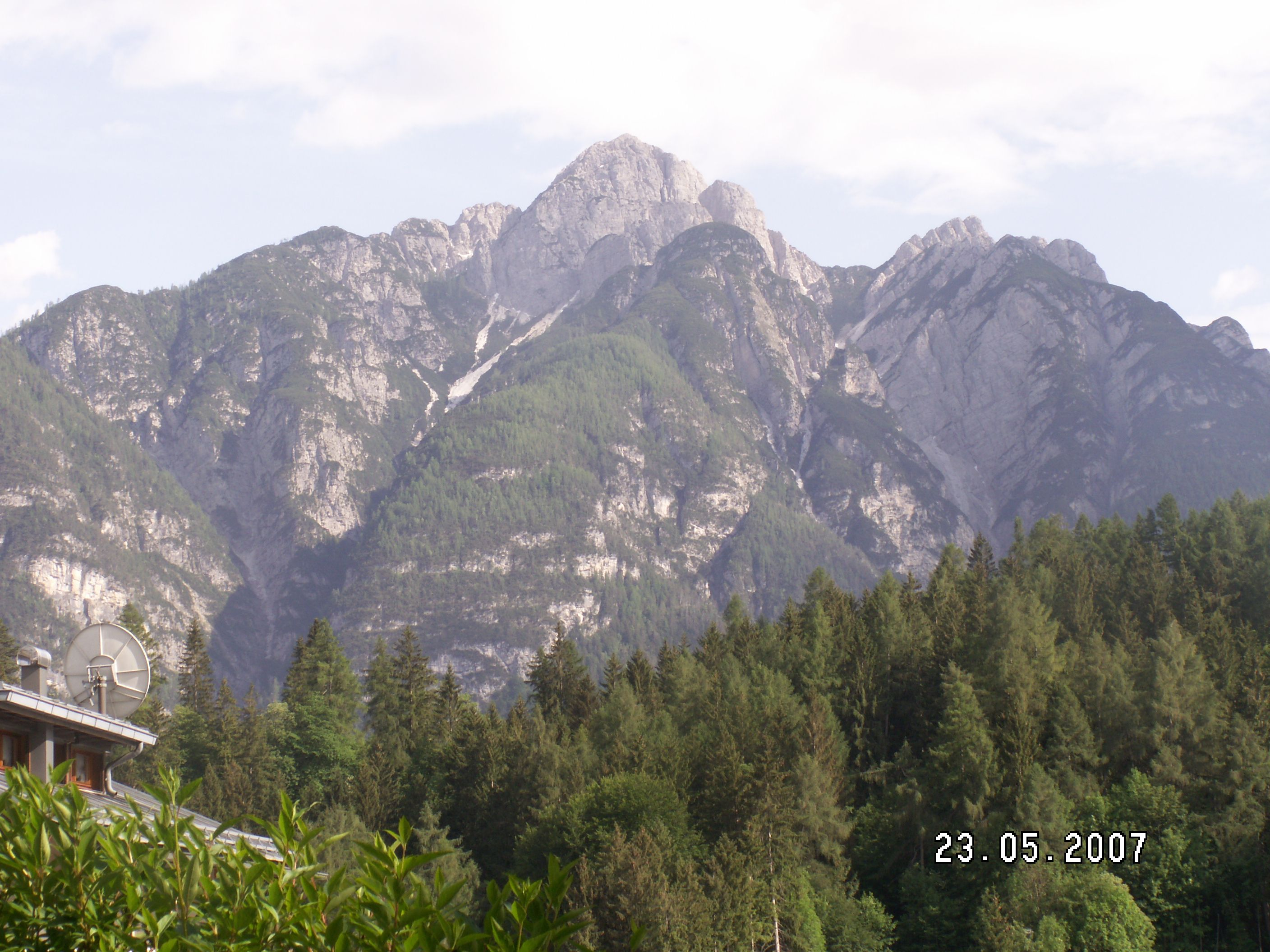 The Dolomite mountains
