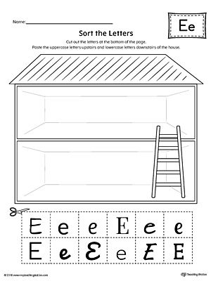 sort the uppercase and lowercase letter e worksheet printable worksheets worksheets and. Black Bedroom Furniture Sets. Home Design Ideas