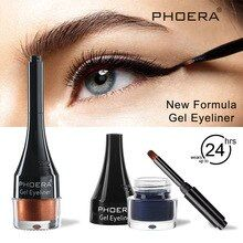 PHOERA 10 Color Liquid Matte Eyeliner Gel Waterproof Lasting White Brown Red Eyeliner Pen Colorful Glitter Eyeliner Makeup TSLM1 #glittereyeliner
