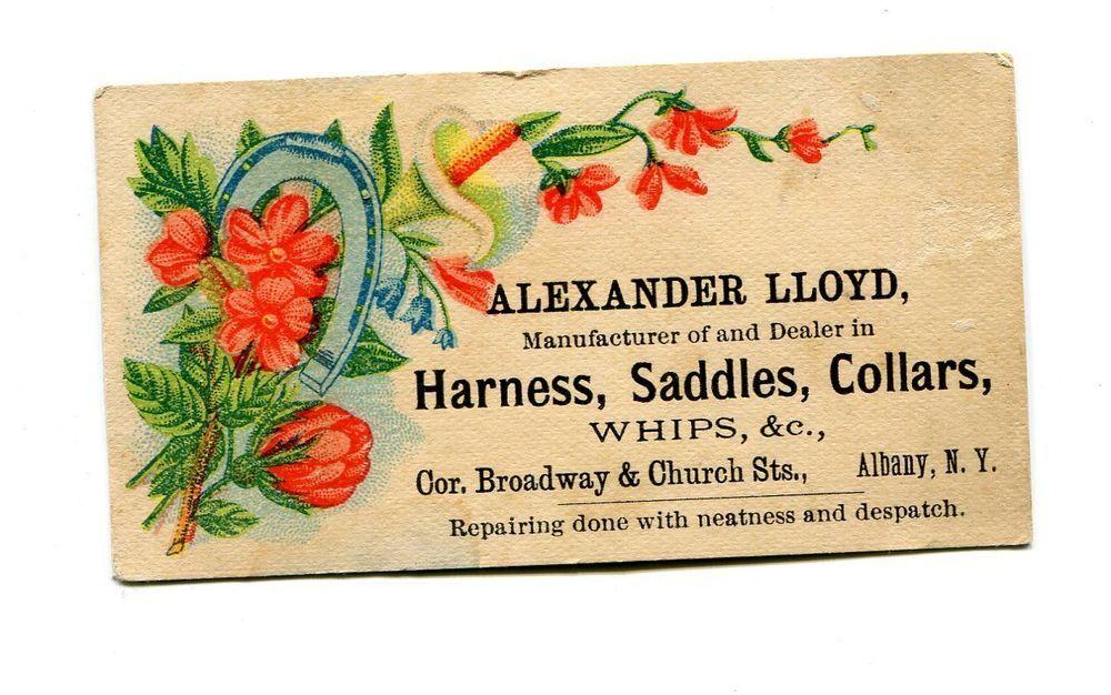 Victorian trade card alexander lloyd harness saddles whips albany ny victorian trade card alexander lloyd harness saddles whips albany ny horseshoe reheart Gallery
