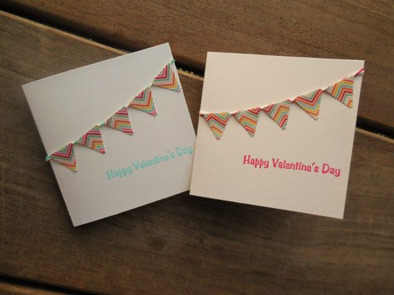 Banner Cards-Mini Valentine's Cards by Lemon Drops & Lilacs on etsy.com