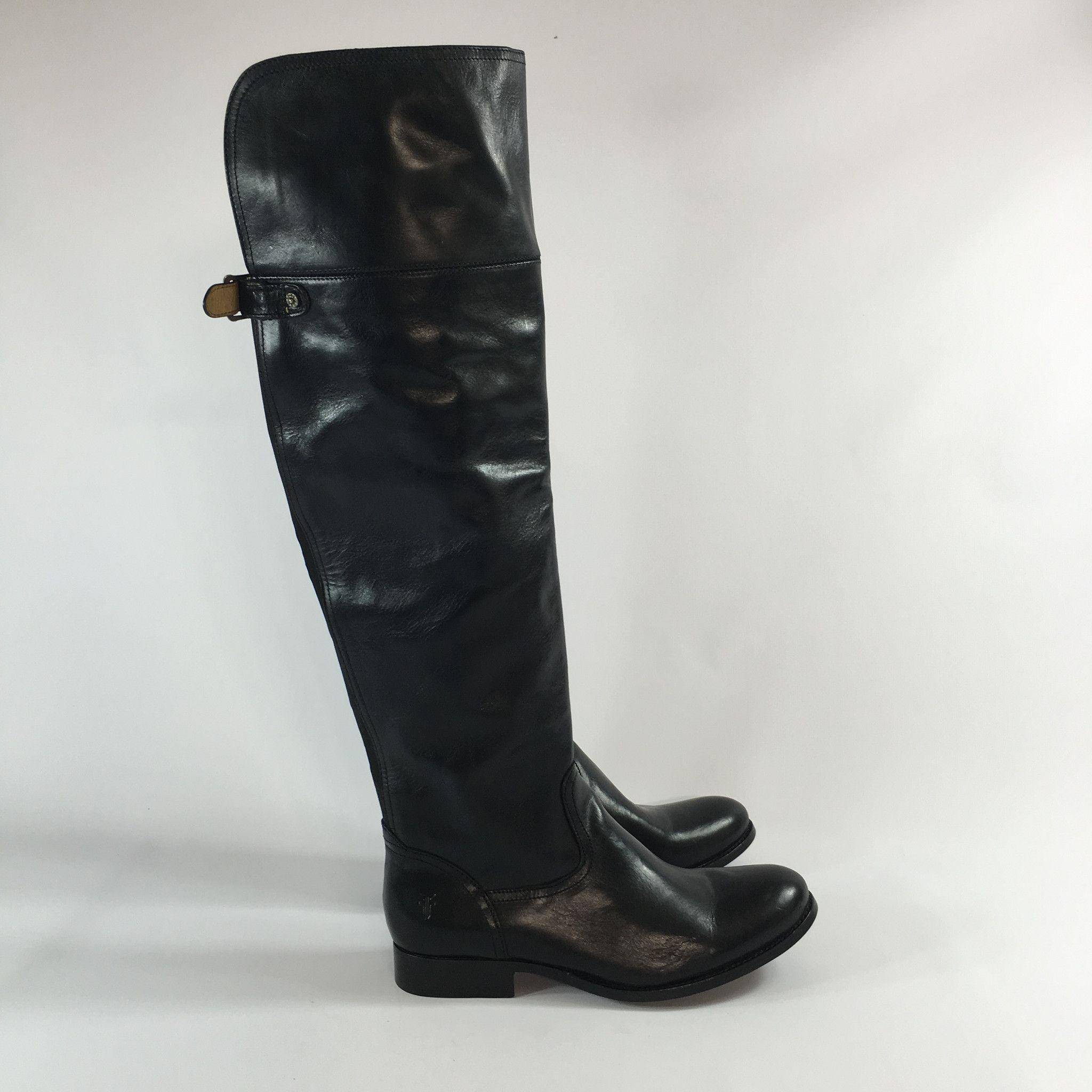 d33e76bd841 Frye Melissa OTK Over The Knee Boot Black Size 9