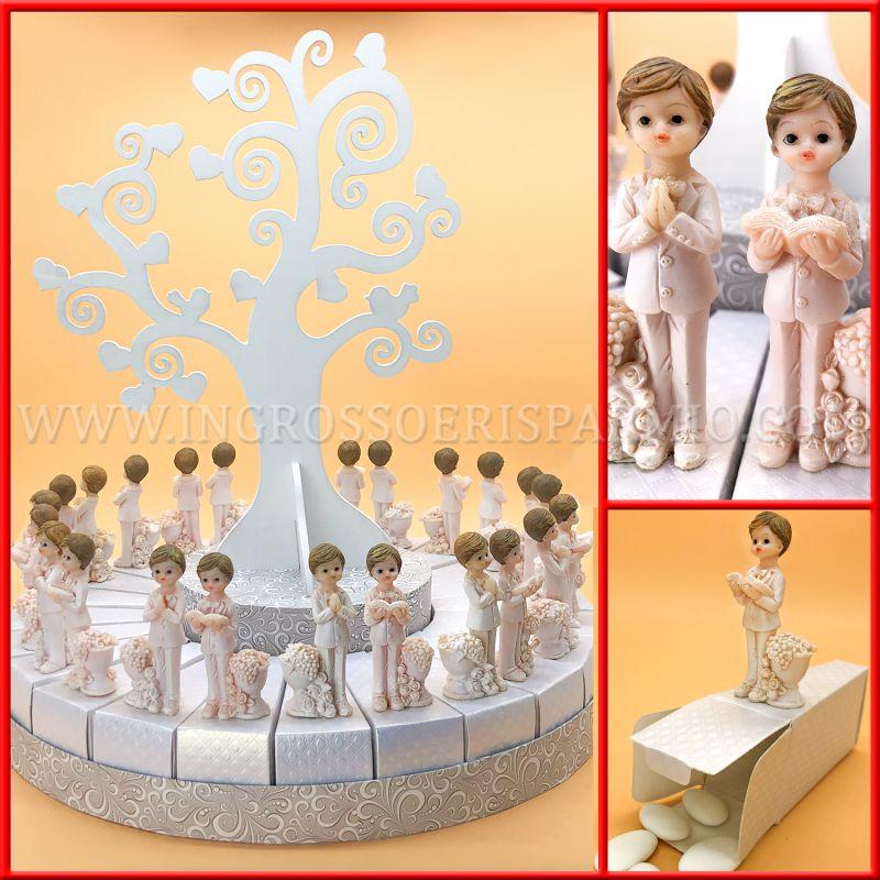 Torte Bomboniere Battesimo Albero della Vita con Bimbo Statuina 20 fettine