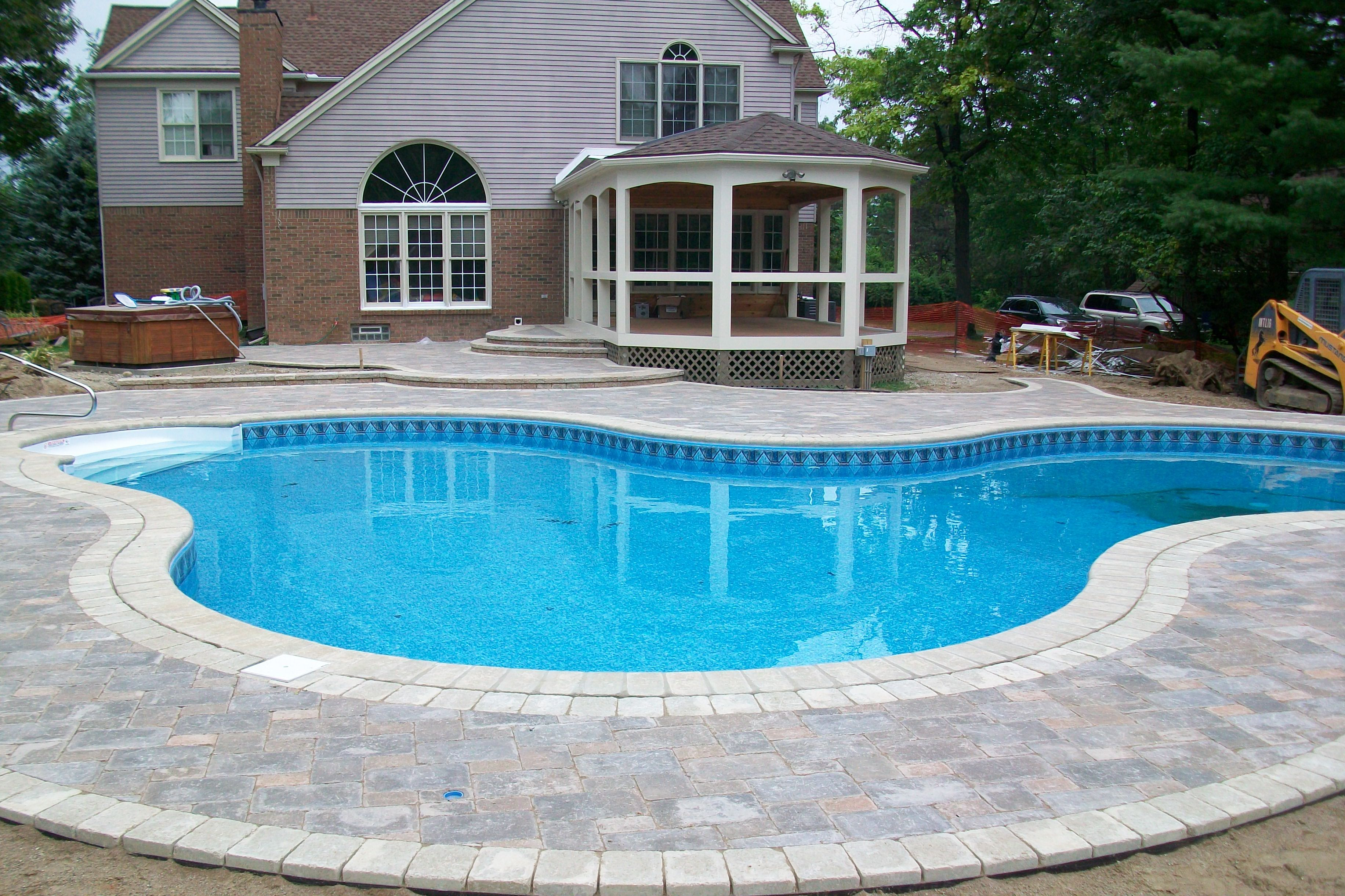 Interpretation Of A Dream In Which You Saw Pool Paver Patio Pool Patio Pavers Pool Landscaping