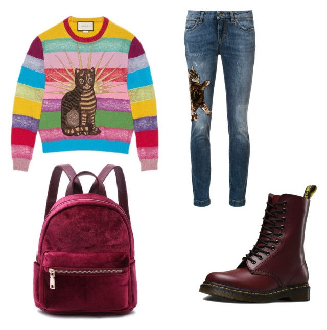 """CATS"" by ylime420 ❤ liked on Polyvore featuring Gucci, Dolce&Gabbana and Dr. Martens"