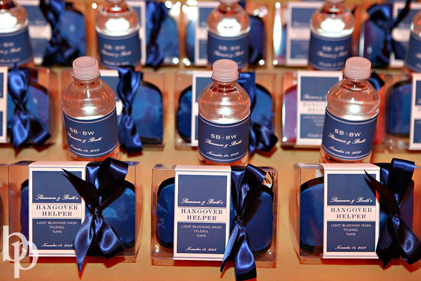 Hangover Kit Wedding Favors For The Morning After Trust Your Guest Will Thank You