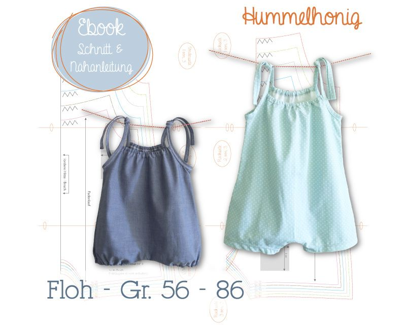 Ebook Baby Jumpsuit Floh | Ebooks - Schnittmuster | Pinterest | Baby ...