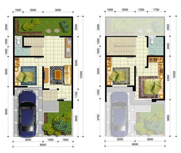 Denah Rumah Minimalis Modern Denah Rumah Rumah Minimalis Desain Rumah