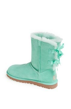 I\u0027m not normally a huge fan of UGGs but I honestly actually really these!  UGG� Australia \u0027Bailey Bow\u0027 Boot (Women) in surf spray suede