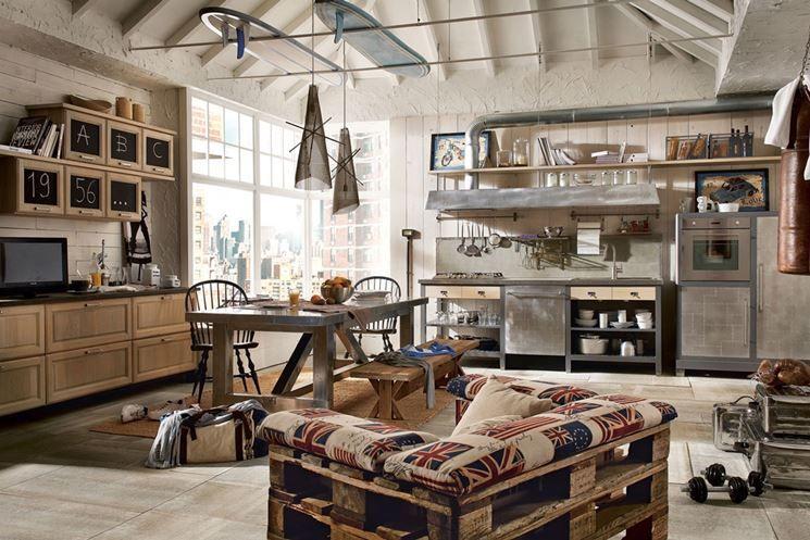 Cucina Marchi group in stile industriale | Kitchen | Cucine vintage ...