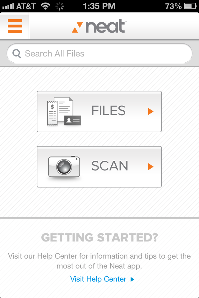 Scanning Items In The Neat Mobile App The Neat Company App Mobile App Neat