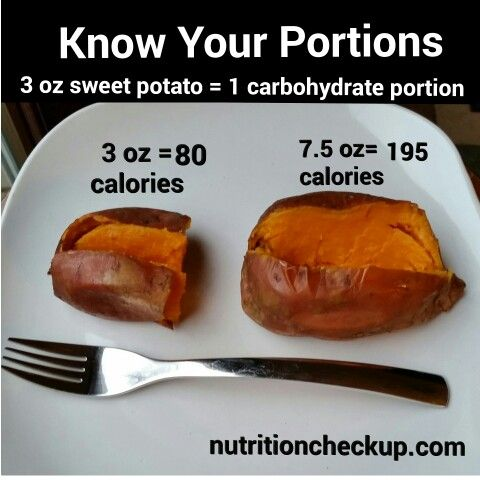 What 1 serving of Starch Vegetable looks like: SWEET POTATO #knowyourportions