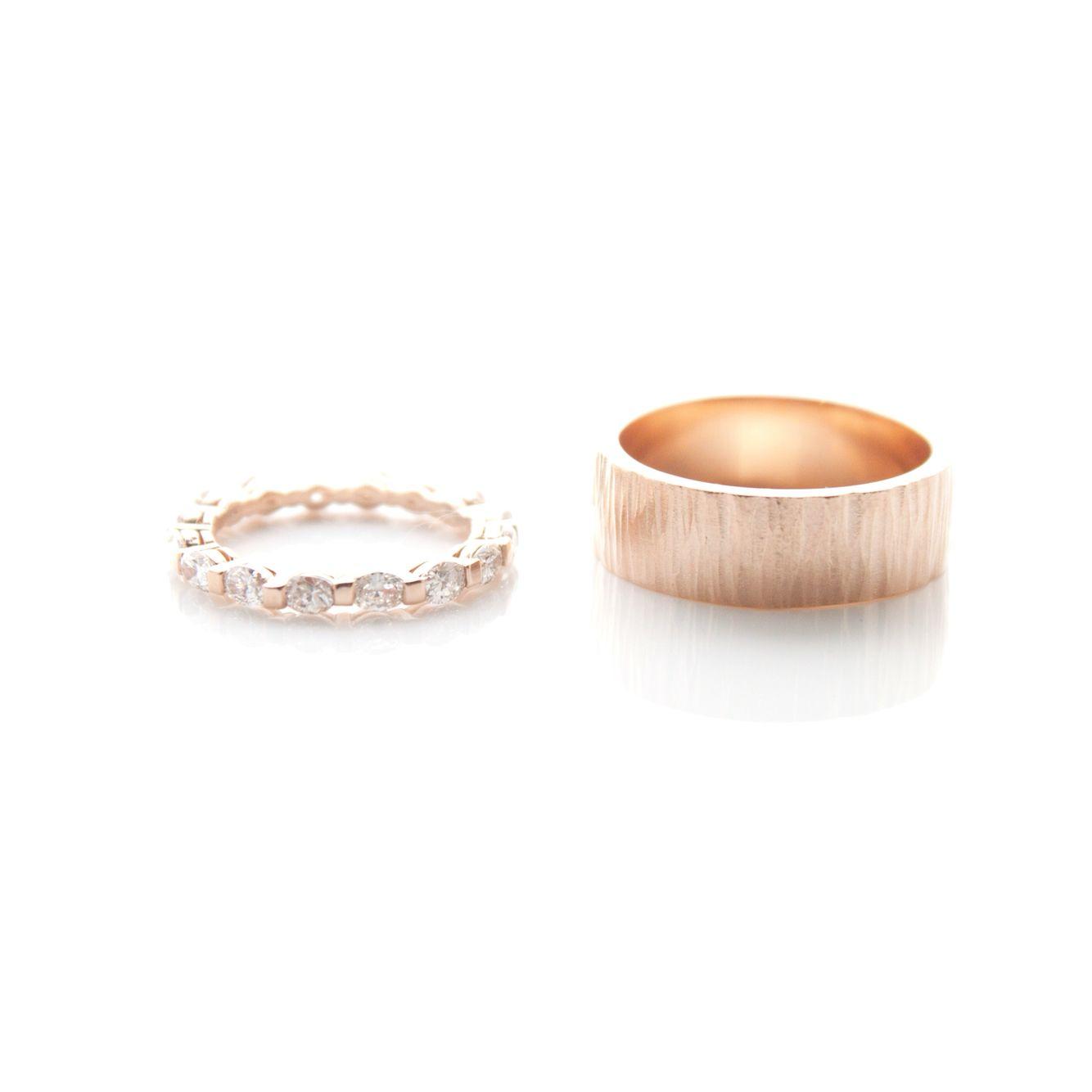 Rose gold bands #WeddingRingWednesday #RoseGoldRings