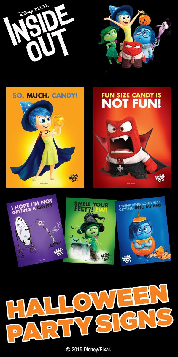 Make Your Halloween Party Scream With 5 Disney Pixar Inside Out Free