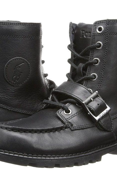 Polo Ralph Lauren Kids Ranger Hi II FA14 (Big Kid) (Black Leather)