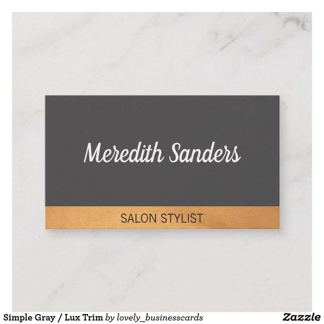Simple Gray Lux Trim Business Card Business Cards