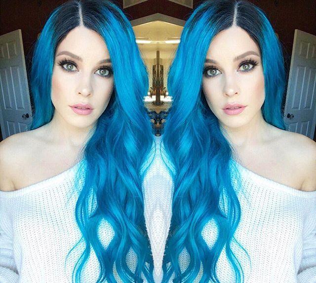 pastel blå hårfarve