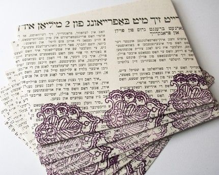 Reading Yiddish - Upcycled Envelopes
