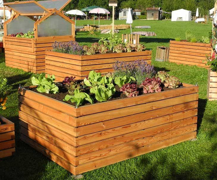 Large Raised Bed From Local Larch Www Gartenfrosch Com Raised Garden Garden Boxes Garden Landscaping