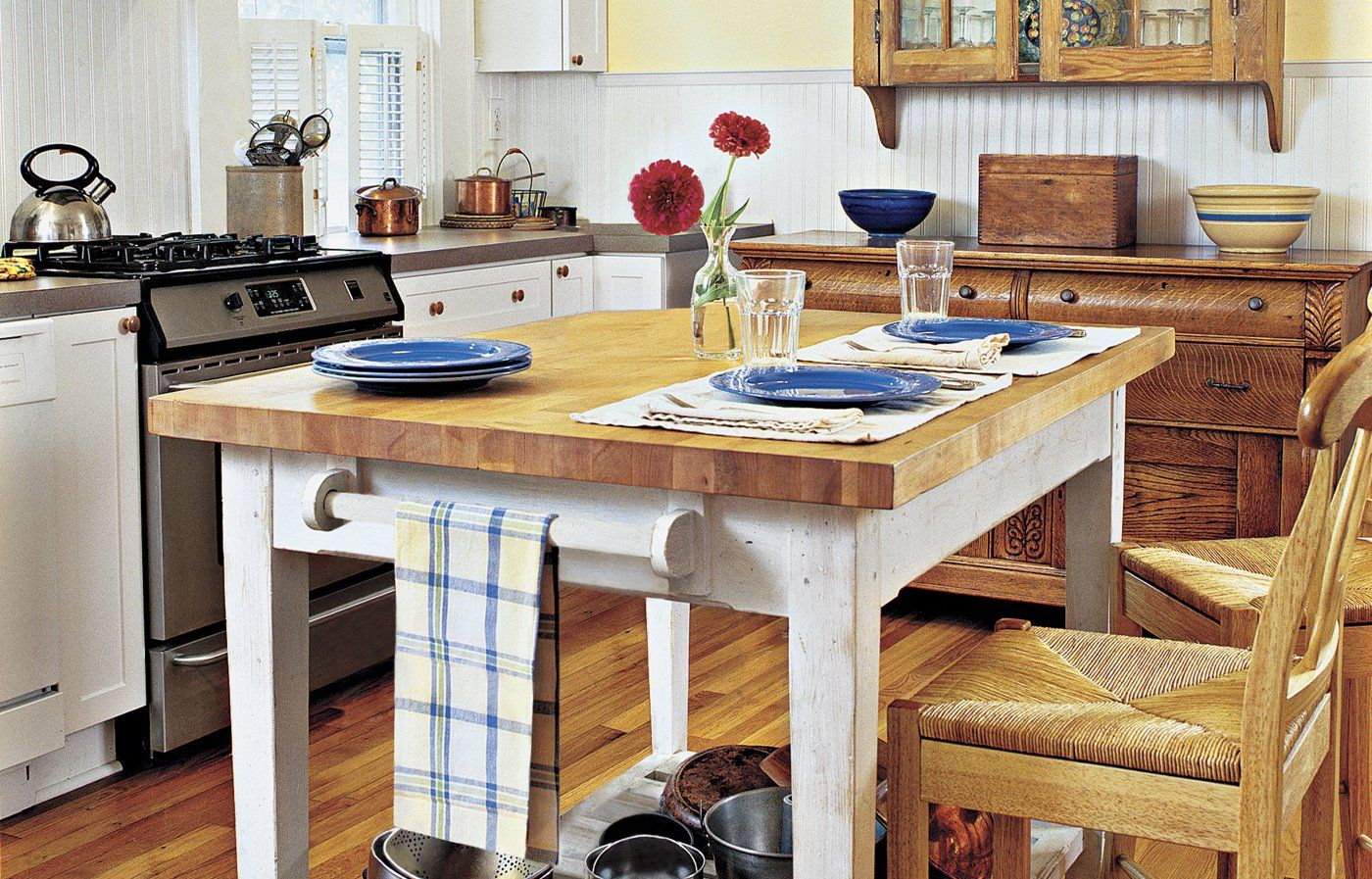 How To Build A Butcher Block Counter Island Pinterest Kitchens