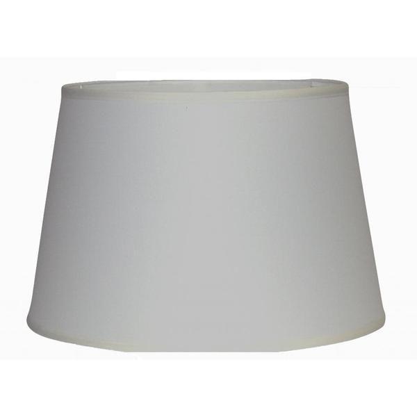 Crown Lighting Off White Medium Linen Hardback Drum Lamp Shade With Self Trim 14