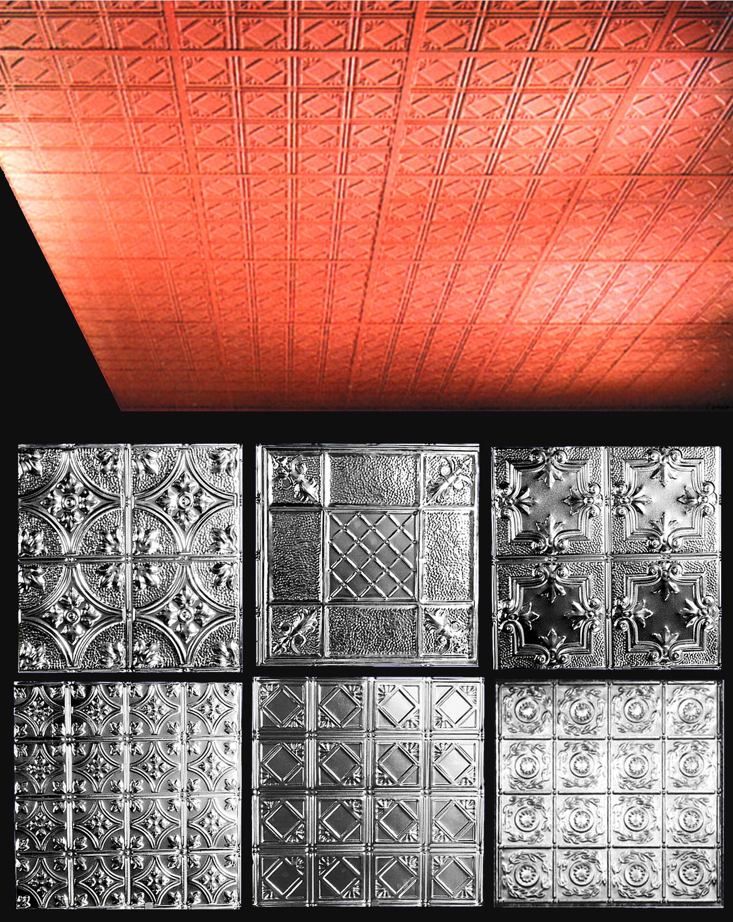 Outwater S Stamped Steel And Plastic Ceiling Tiles Convey